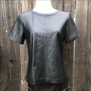 Halogen Leather Blouse